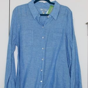 NWT Lilly Pulitzer Sea View Button Down